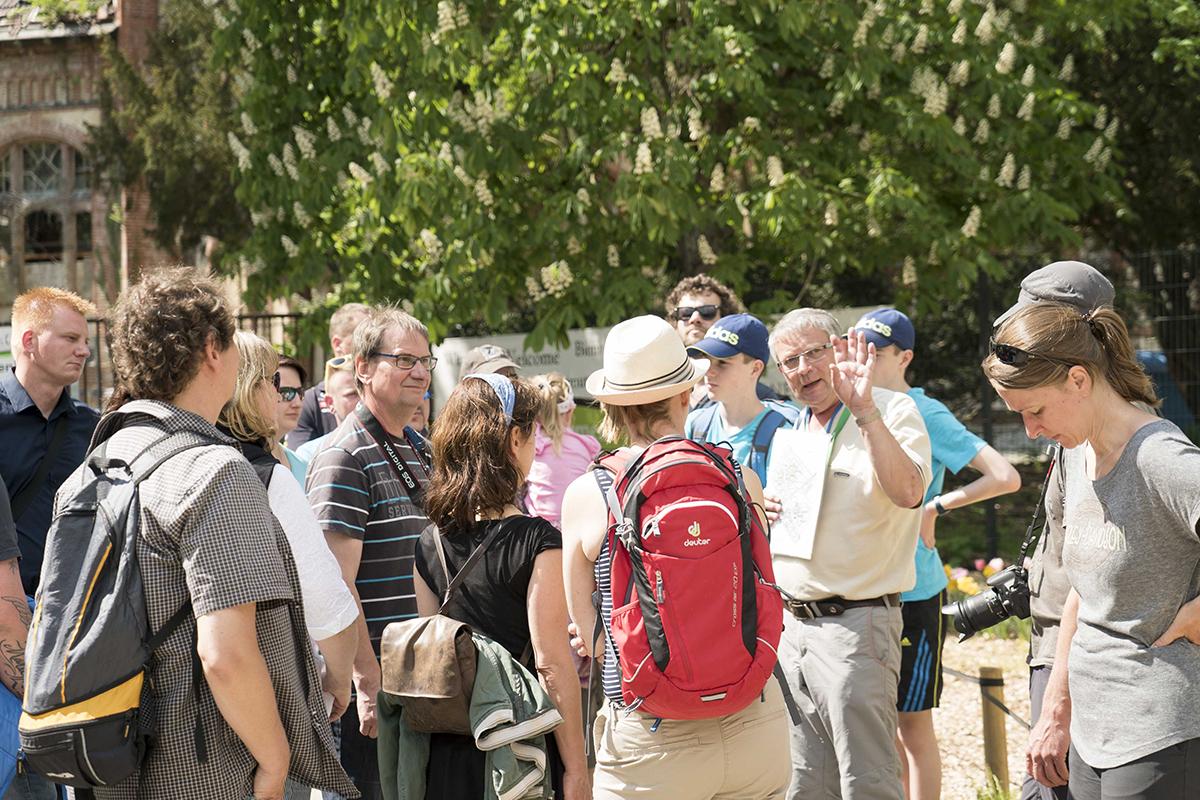 ©Baum&Zeit Baumkronenpfad Beelitz-Heilstätten Besucher Gruppe Führung Waldpark