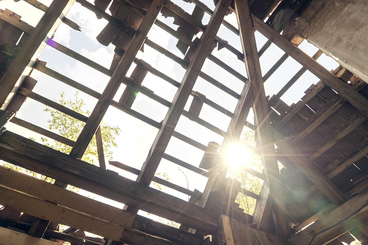 ©Baum&Zeit Baumkronenpfad Beelitz-Heilstätten Detail Dachstuhl