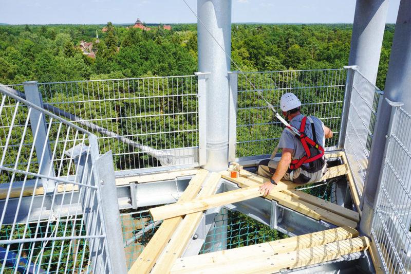 ©Baum&Zeit Baumkronenpfad Beelitz-Heilstätten Bauarbeiten Aussichtsturm