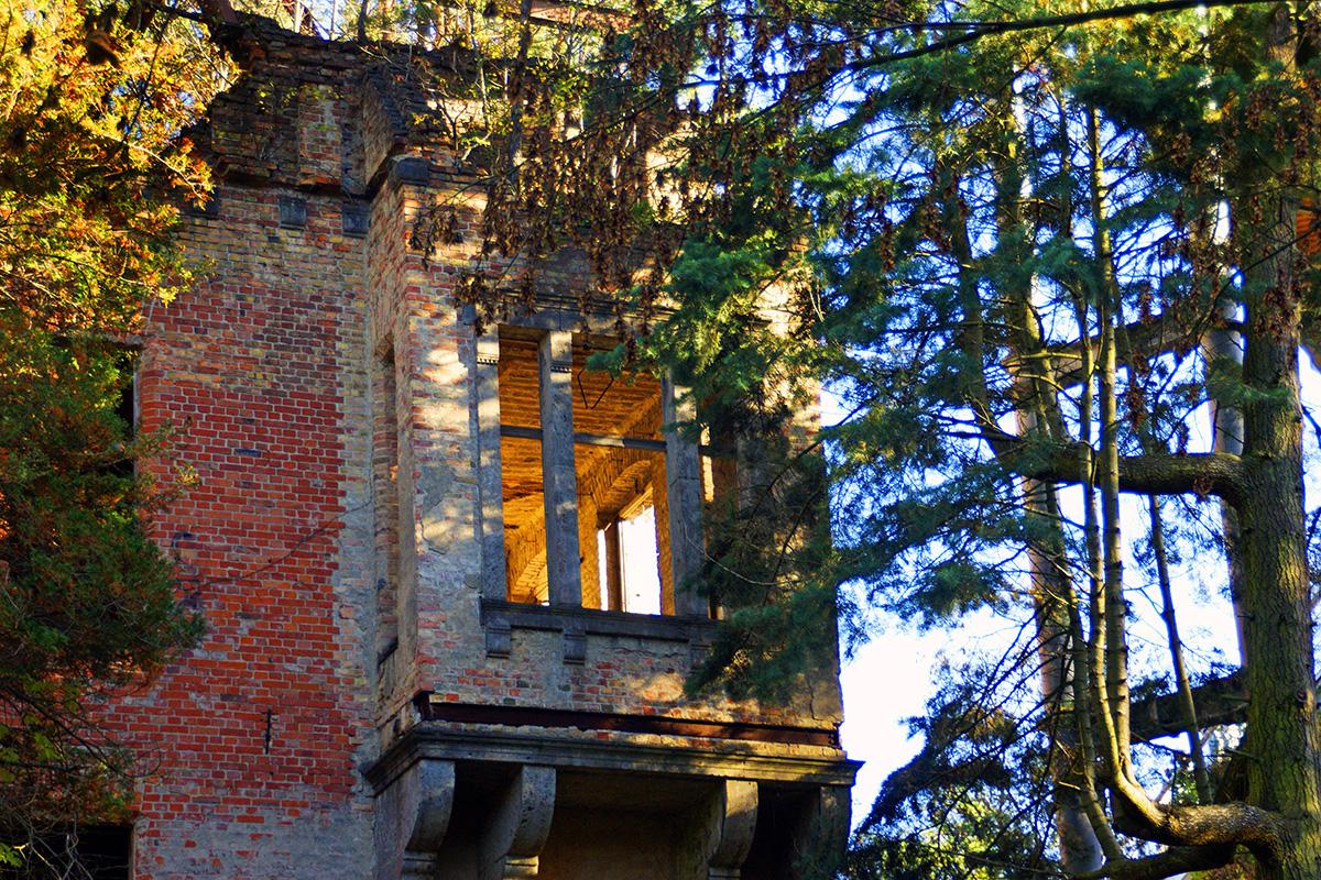 ©Baum&Zeit Baumkronenpfad Beelitz-Heilstätten Ruine Alpenhaus Erker Detailansicht