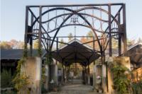 ©Baum&Zeit Baumkronenpfad Beelitz-Heilstätten historischer Wandelgang und Liegehalle - heute Ein-& Ausgang Erlebnisareal