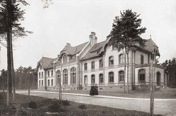 Baum&Zeit Baumkronenpfad Beelitz-Heilstätten historische Aufnahme Waschküche